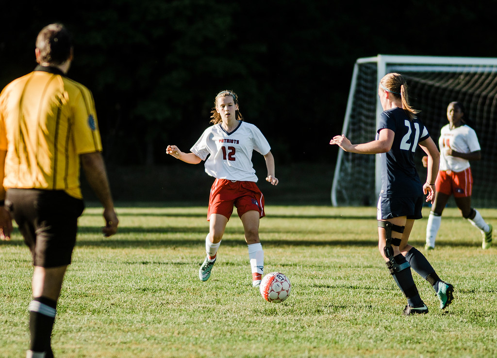 . North Middlesex\'s Alexandra Sheehan in action during the game against Quabbin on Wednesday, September 27, 2017. SENTINEL & ENTERPRISE / Ashley Green
