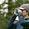 North Middlesex Regional High School men's golf hosted  Clinton High School on Thursday, Oct. 3, 2019 at Townsend Ridge Country Club. NMRHS's senior Nick Miller checks out the distance to the green before teeing off. SENTINEL & ENTERPRISE/JOHN LOVE