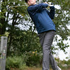 North Middlesex Regional High School men's golf hosted  Clinton High School on Thursday, Oct. 3, 2019 at Townsend Ridge Country Club. NMRHS's freshman Michael Archambault tees off. SENTINEL & ENTERPRISE/JOHN LOVE