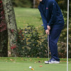 North Middlesex Regional High School men's golf hosted  Clinton High School on Thursday, Oct. 3, 2019 at Townsend Ridge Country Club. NMRHS's junior Justin Marr makes a putt during the match. SENTINEL & ENTERPRISE/JOHN LOVE
