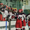 North Middlesex celebrates after a goal against East Longmeadow on Wednesday, February 22, 2017. SENTINEL & ENTERPRISE / Ashley Green