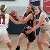 North Middlesex Regional High School girls basketball played Groton Dunstable Regional High School on Saturday in Townsend. SENTINEL & ENTERPRISE/JOHN LOVE