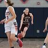 North Middlesex Regional High School girls basketball played Groton Dunstable Regional High School on Saturday in Townsend. GD's #22 Jillian Van Pelt takes the ball down court. SENTINEL & ENTERPRISE/JOHN LOVE