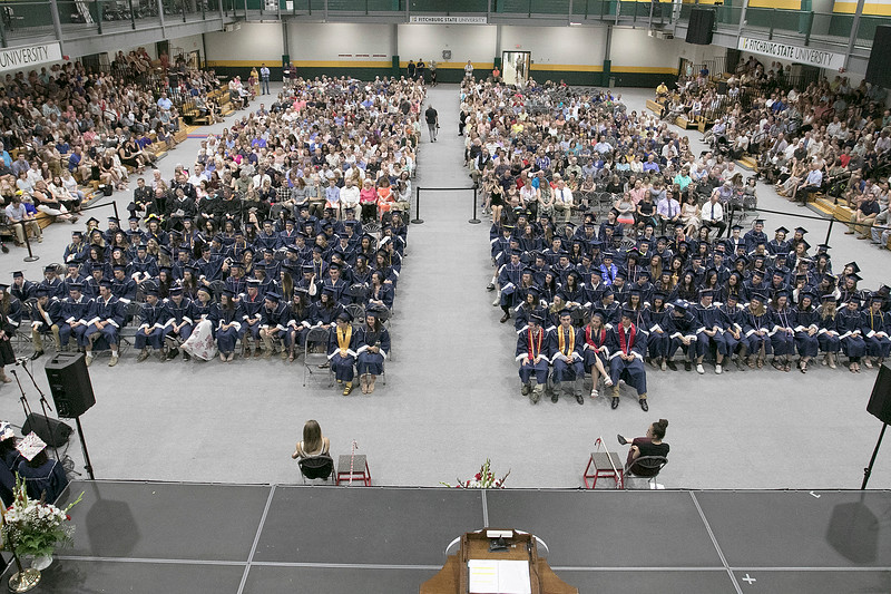 North Middlesex Regional High School graduation was held on Friday night at Fitchburg State University Recreation Center. SENTINEL & ENTERPRISE/JOHN LOVE