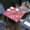North Middlesex Regional High School graduation was held on Friday night at Fitchburg State University Recreation Center. One of the many decorated caps. SENTINEL & ENTERPRISE/JOHN LOVE