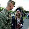 North Middlesex Regional High School graduation was held on Friday night at Fitchburg State University Recreation Center. Graduate Madison Davis was shocked when she heard that Navy Petty Officer Zachary Davis, a graduate of NMRHS in 2014, her brother was going to give her her diploma. After the ceremony she still had a big smile in her face they the both of them talked to the media. SENTINEL & ENTERPRISE/JOHN LOVE