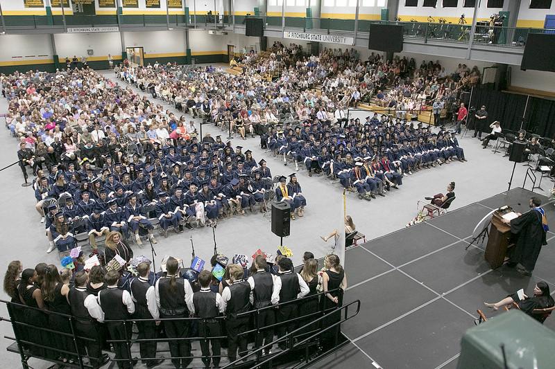 North Middlesex Regional High School graduation was held on Friday night at Fitchburg State University Recreation Center. SENTINEL & ENTERPRISE/JOHN LOVE