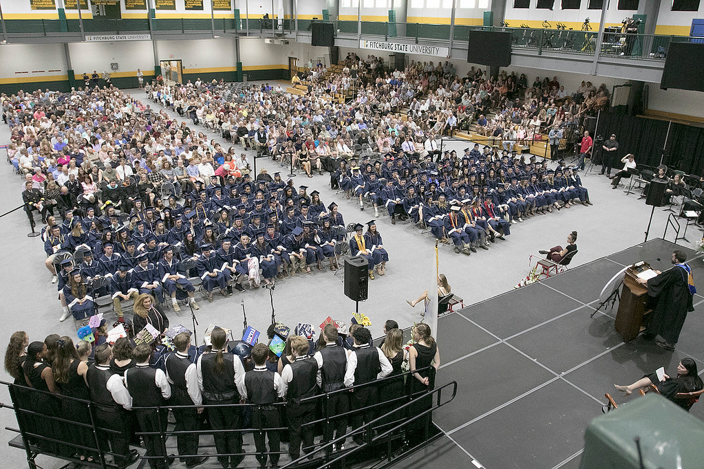 . North Middlesex Regional High School graduation was held on Friday night at Fitchburg State University Recreation Center. SENTINEL & ENTERPRISE/JOHN LOVE