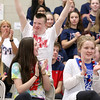 North Middlesex Regional High School Gateway Program student Danny Dichaut was all excited as his name was called at the 10th annual pep rally for the schools athletes that will be participating in Friday's Special Olympics at Fitchburg State University. SENTINEL & ENTERPRISE/JOHN LOVE