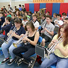 North Middlesex Regional High School band played during the schools Pep Rally for the students taking part in Friday's Special Olympics at Fitchburg State University. SENTINEL & ENTERPRISE/JOHN LOVE