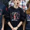 North Middlesex Regional High School senior Noah Meunier sings the schools song with the chorus at the 10th annual pep rally for the schools athletes that will be participating in Friday's Special Olympics at Fitchburg State University. SENTINEL & ENTERPRISE/JOHN LOVE