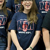 North Middlesex Regional High School junior Hannah Keese sings the schools song with the chorus at the 10th annual pep rally for the schools athletes that will be participating in Friday's Special Olympics at Fitchburg State University. SENTINEL & ENTERPRISE/JOHN LOVE