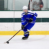 Leominster High School hockey player North Middlesex Regional High School on Saturday afternoon at the the Wallace Civic Center at Fitchburg State University. LHS's Alex Helenius control s the puck during action in the game. SENTINEL & ENTERPRISE/JOHN LOVE