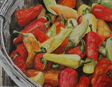 """Dozens of Peppers"" ©Sue Ann Glenn NMWS"