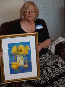 Judy Hampton - El Paso member switching from portraits to still lifes.