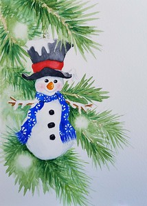 Julie Caffee-Cruz - Snowman - 2017 - SC