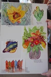 Karen's example on watercolor paper