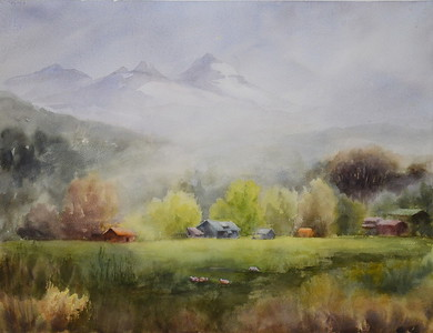 "Li, Hua "" Morning Fog"" Ron Peterson Antiques Award 2017-10 ABQ"