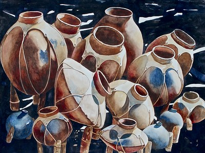"Love, Tricia H. ""A Pod of Pots"" Best of Show 2017-10 ABQ"