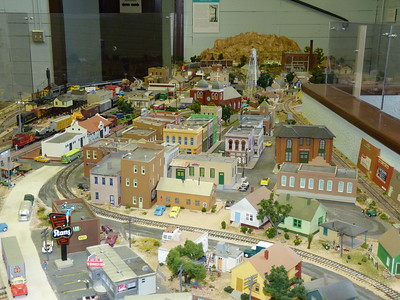 HO Scale Train layout created by volunteers