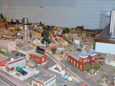 One of the three train layouts showcased at the Railroad Museum.   Not to be missed is the replica of Las Cruces.