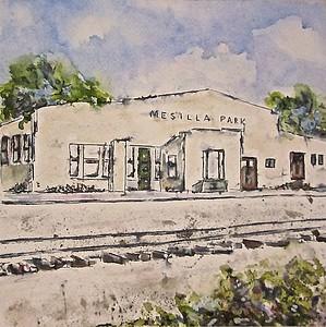 """Mesilla Park Depot"" ©Beverley Pirtle"