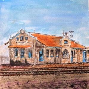 """""""Railway Station - Las Cruces, NM"""" ©Paul A. Vakselis, M.D."""
