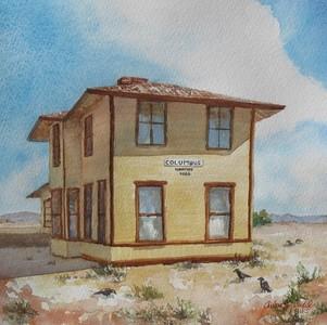 """Columbus NM Railroad Depot"" ©Arlene Tugel"