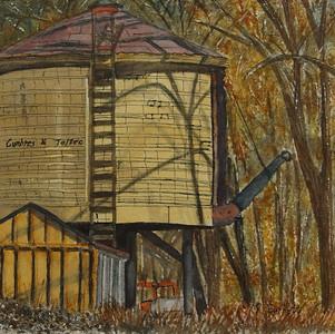 """Cumbres & Toltec Watertower""  © Chama, NMRuth Burkett"