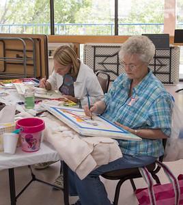 Sue Ann Glenn & Barbara Kjer hard at work