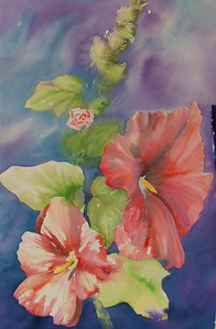 Arlene Tugel - Hollyhocks