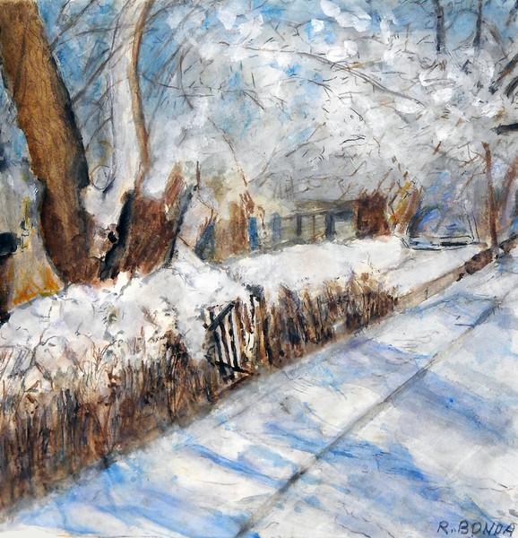 """Dick Blick Award: Bonda, Raymond """"Snowfall 1"""""""