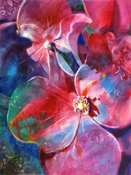 "QoR Award: Hyland, Jean ""Multi-Colored Hydrangea"""