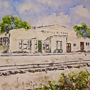 "Beverley Pirtle  ""Mesilla Park Depot 1950's"" NMWS- SC  201803"