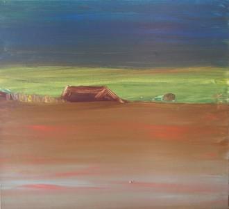 "Margaret Bernstein  ""Boomershire Road 1950s""  LCAA 201803"