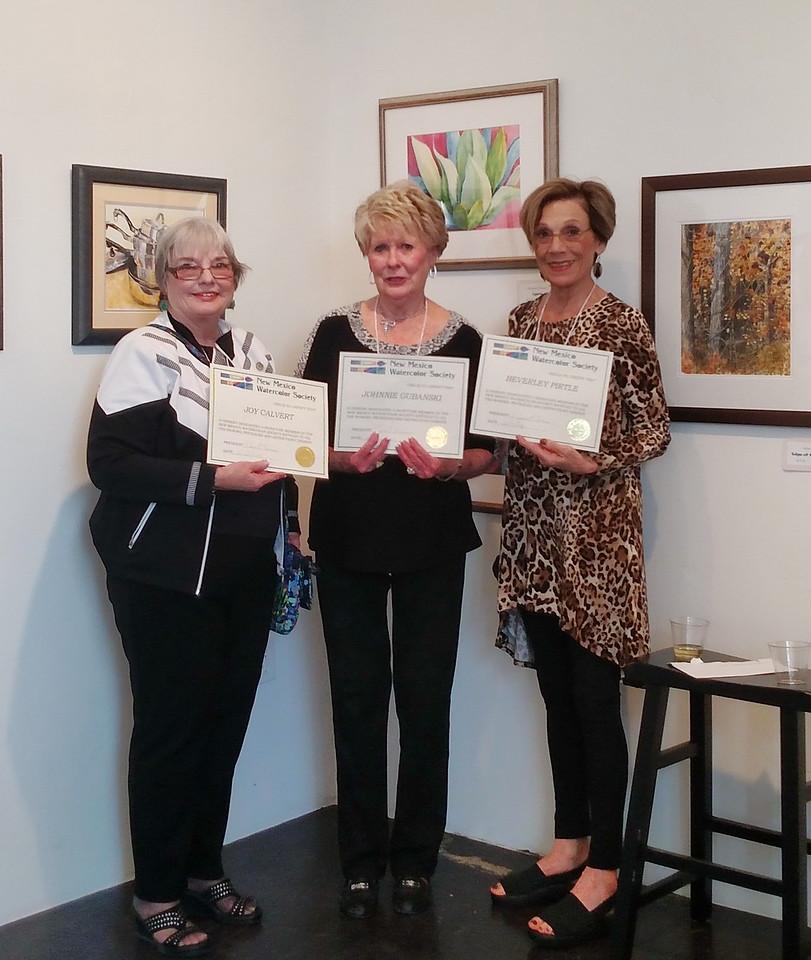 Three new SC Signature Members - Joy Calvert , Johnnie Gubanski, Beverley Pirtle
