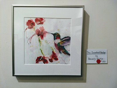 Congrats to Beverley Pirtle for selling her hummingbird painting.