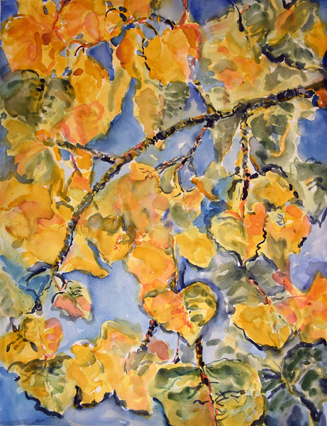 "Muldavin, Deborah ""Cottonwood Leaves"" 2018-05, ABQ"