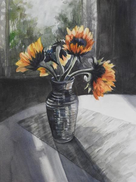 """Hostetler, Pam """"Sunflowers"""" 2018-05, ABQ"""