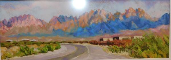 Organ Mountains in Goauche - Mary Zawacki