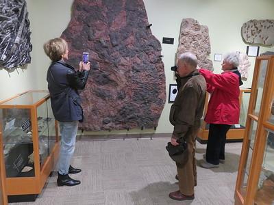 Beverley Pirtle, Rob Sheldon, Barbara Kejr enjoying the NMSU Zuhl museum paintout