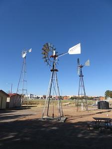 Windmills outside the NMSU Zuhl Museum