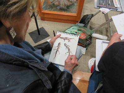 Beverley Pirtle sketching Zuhl Museum  - SC - 20180116