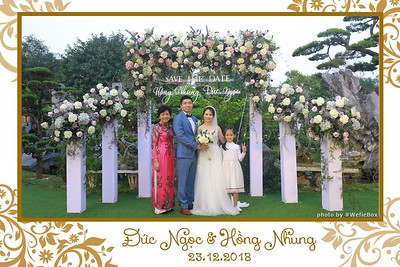 Ngoc & Nhung Wedding instant print photobooth in Ha Noi - Chụp ảnh in hình lấy ngay Tiệc cưới tại Hà Nội - WefieBox Photobooth Vietnam