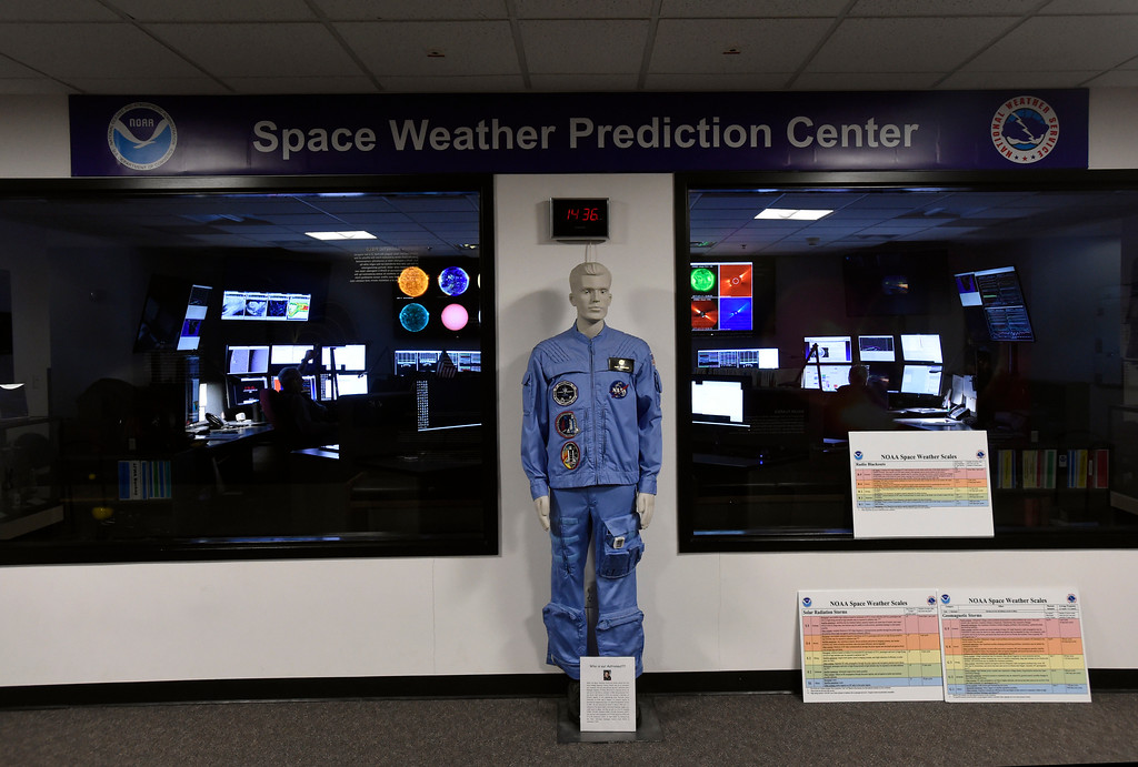 . The Space Weather Prediction Center on Friday on the NOAA campus in Boulder. For more photos of the space weather forecasters at work go to www.dailycamera.com Jeremy Papasso/ Staff Photographer/ Jan. 13, 2017