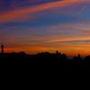 Crépuscule au phare du Créac'h <br /> Ile d'Ouessant<br /> Bretagne  (France)