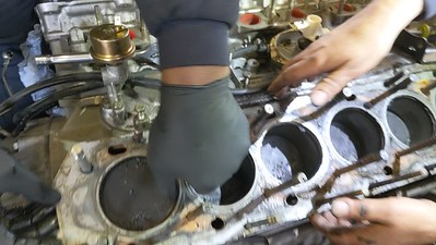 Removing the old head gasket