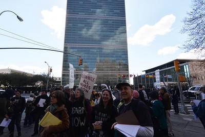 NON-VIOLENT  BLOCKADE  OF  U.S.  MISSION  to  the  U.N.    -    First  Avenue  &  43rd  Street,  Manhattan  NYC