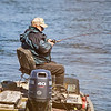 WHILE TAKING PHOTOS OF AN EAGLE ALONG THE SUSQUEHANNA RIVER I SPOTTED MY NEIGHBOIR FISHING