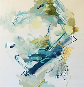 Aqua Marine Sunrise I-Hibberd, 40x40 canvas